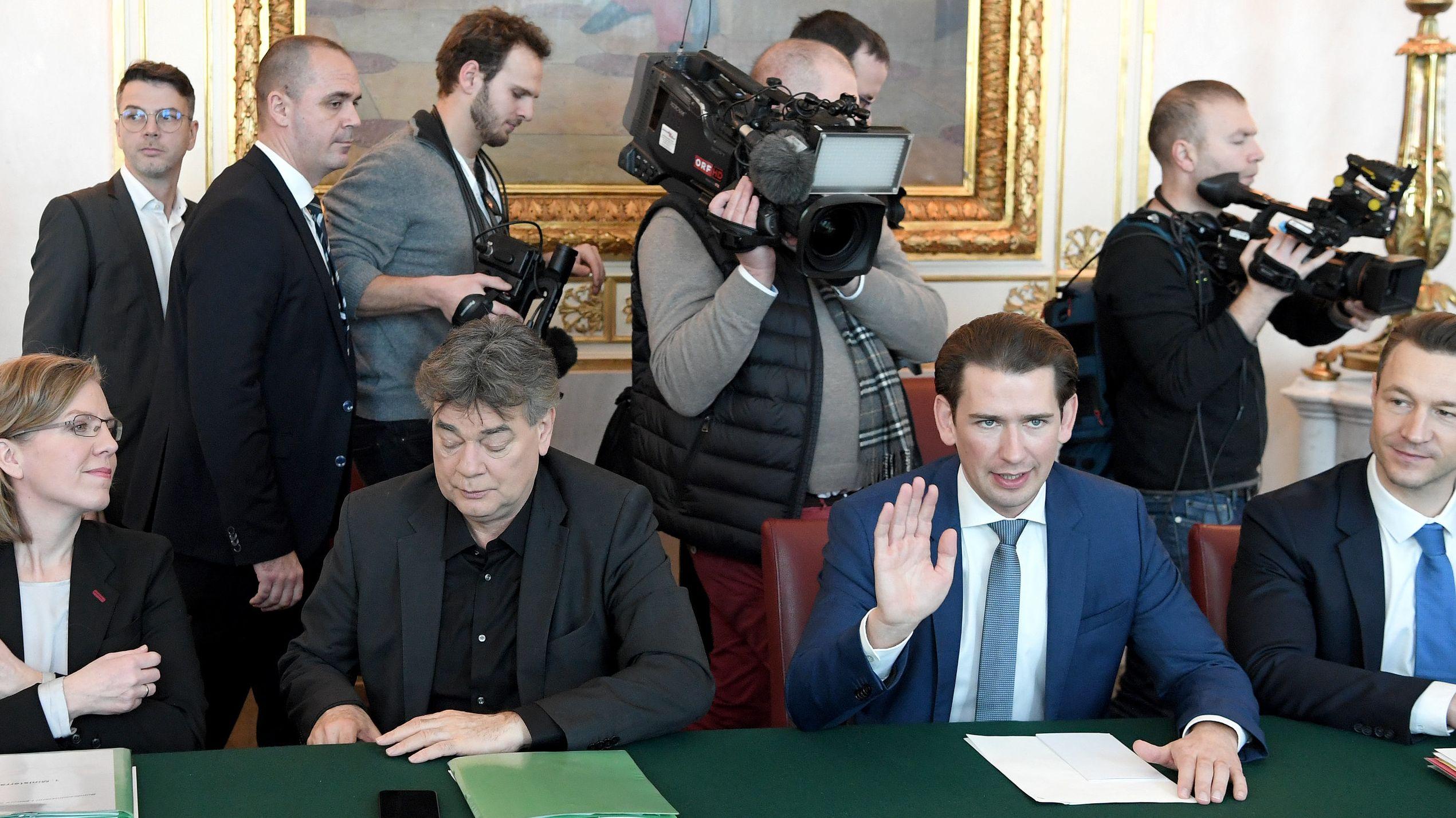 Erster Ministerrat der neuen Regierung in Österreich
