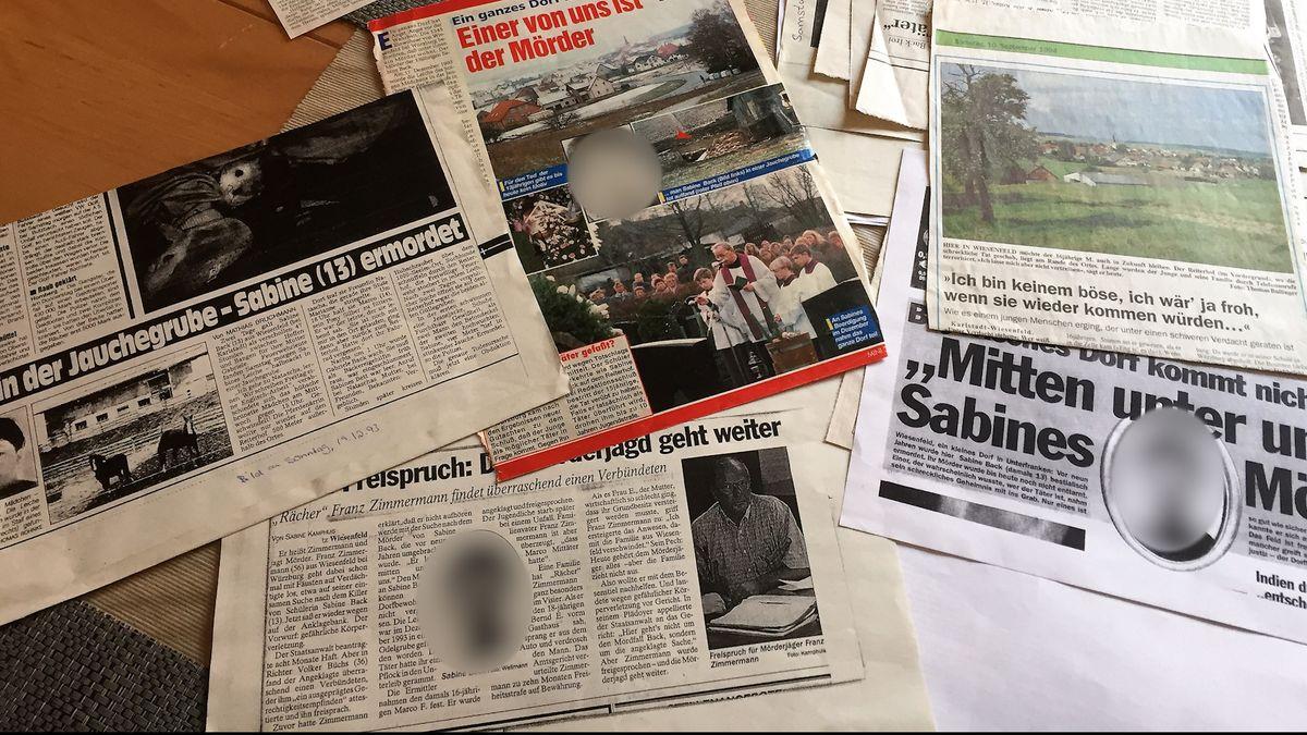 Zeitungsartikel über den Tod einer 13-Jährigen in Wiesenfeld im Dezember 1993