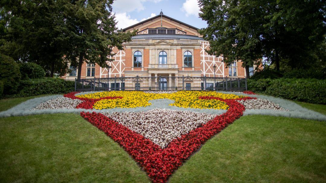 Bayern, Bayreuth: Das Bayreuther Festspielhaus.