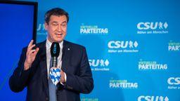 Doch zufrieden mit dem Kabinett: Bayerns MInisterpräsident Markus Söder | Bild:picture alliance/Lino Mirgeler/dpa-Pool/dpa