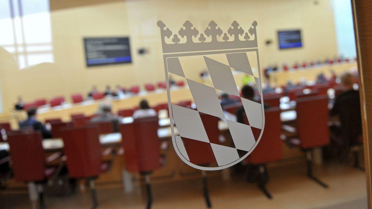 Blick in den Plenarsaal des Bayerischen Landtags, aufgenommen im Oktober 2012.