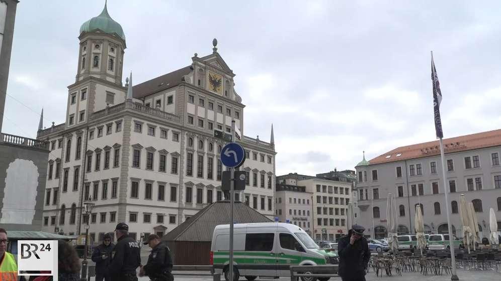 Der Bombenalarm in Augsburg ist aufgehoben. | Bild:BR
