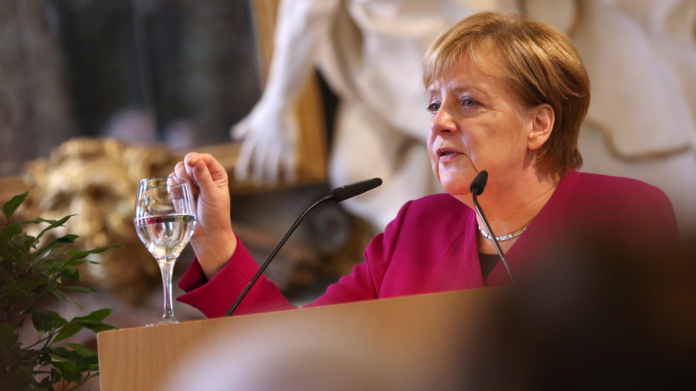 Angela Merkel in Ottobeuren