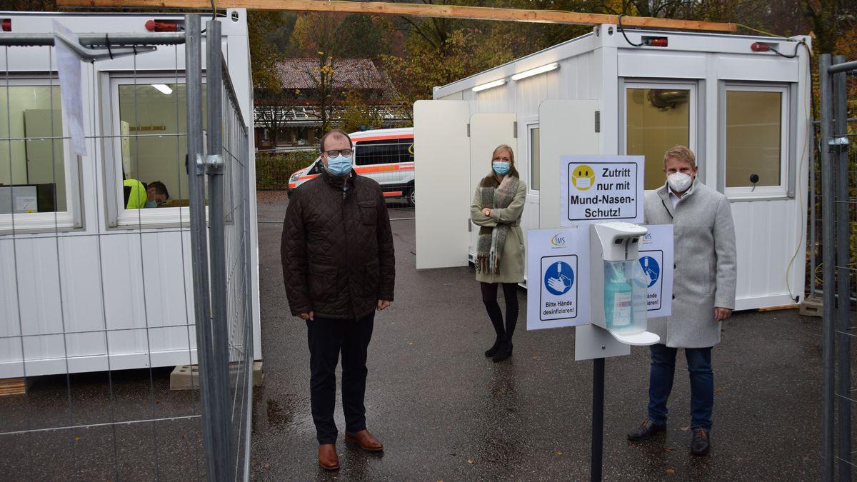 Die neu eröffnete Teststation in Simbach am Inn