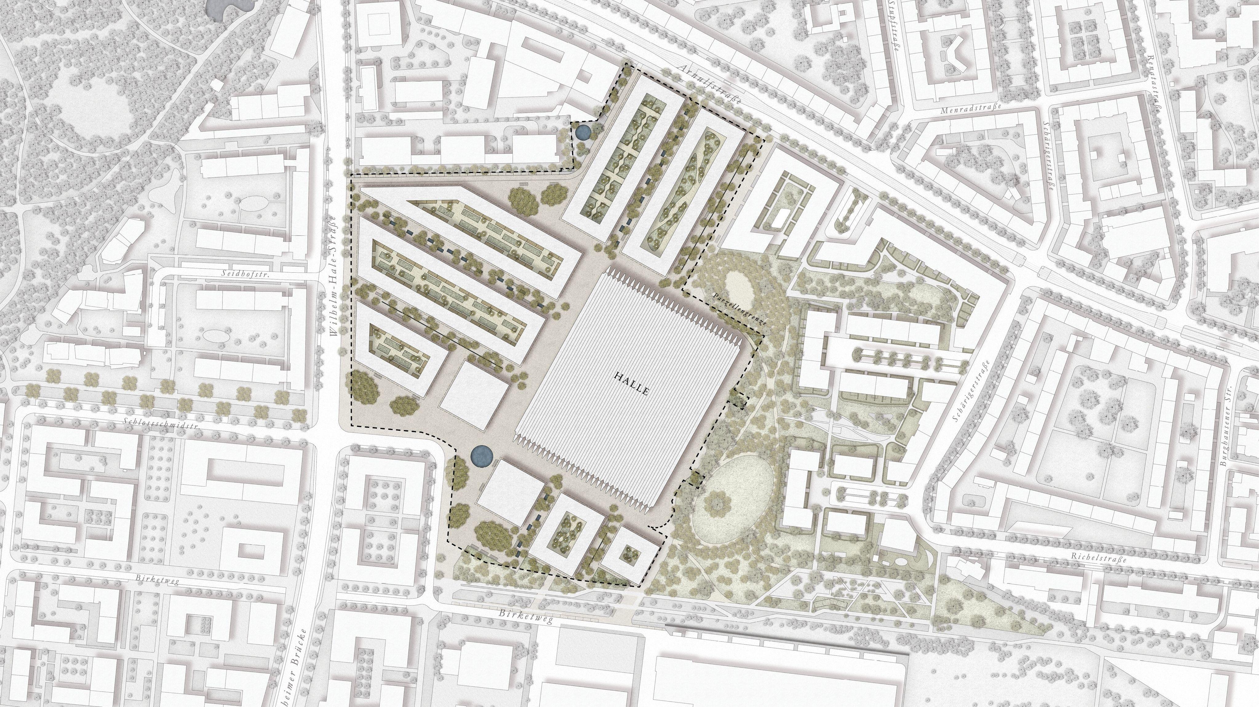 Plan des Areals von oben.