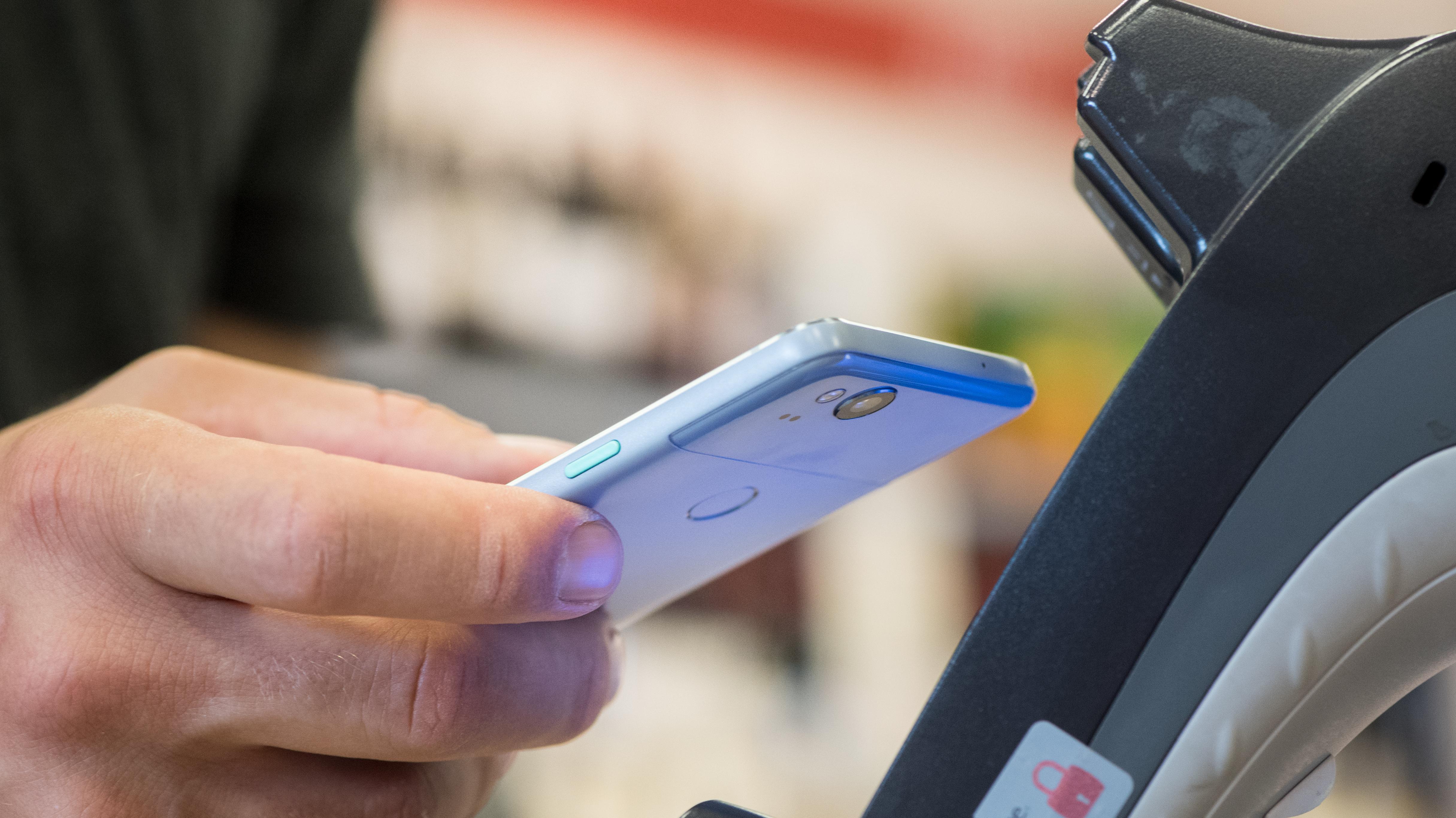 Smartphone mit NFC-Chip