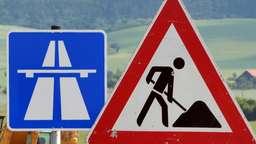 Bauarbeiten auf einer Autobahn (Symbolbild)   Bild:pa/dpa/Martin Schutt