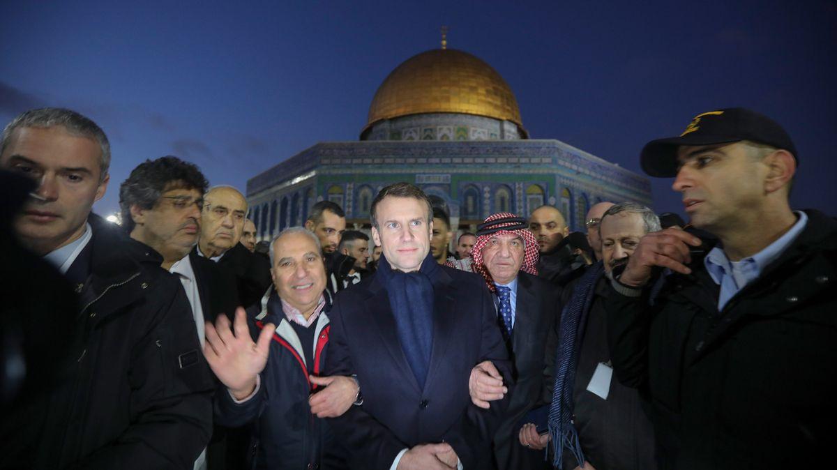 Emmanuel Macron bei seinem Besuch in der Jerusalemer Altstadt.