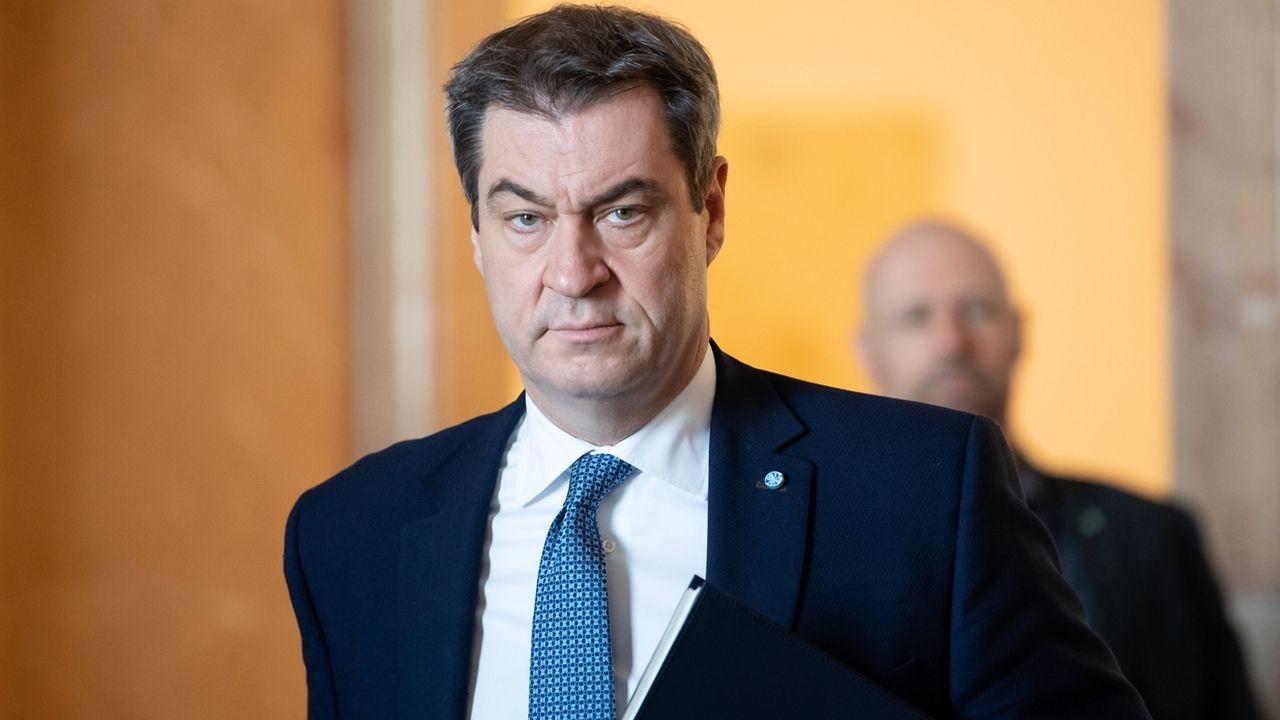 Coronavirus - Söder bei Sitzung bayerischer Landtag