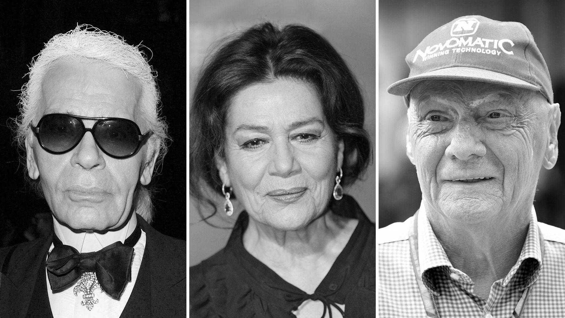 Karl Lagerfeld, Hannelore Elsner, Niki Lauda