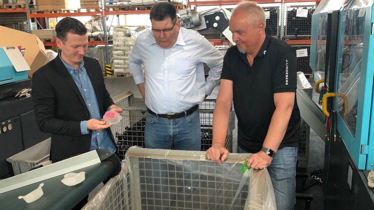 Produnktion von wiederverwendbaren Kunststoffmasken in Gemünden