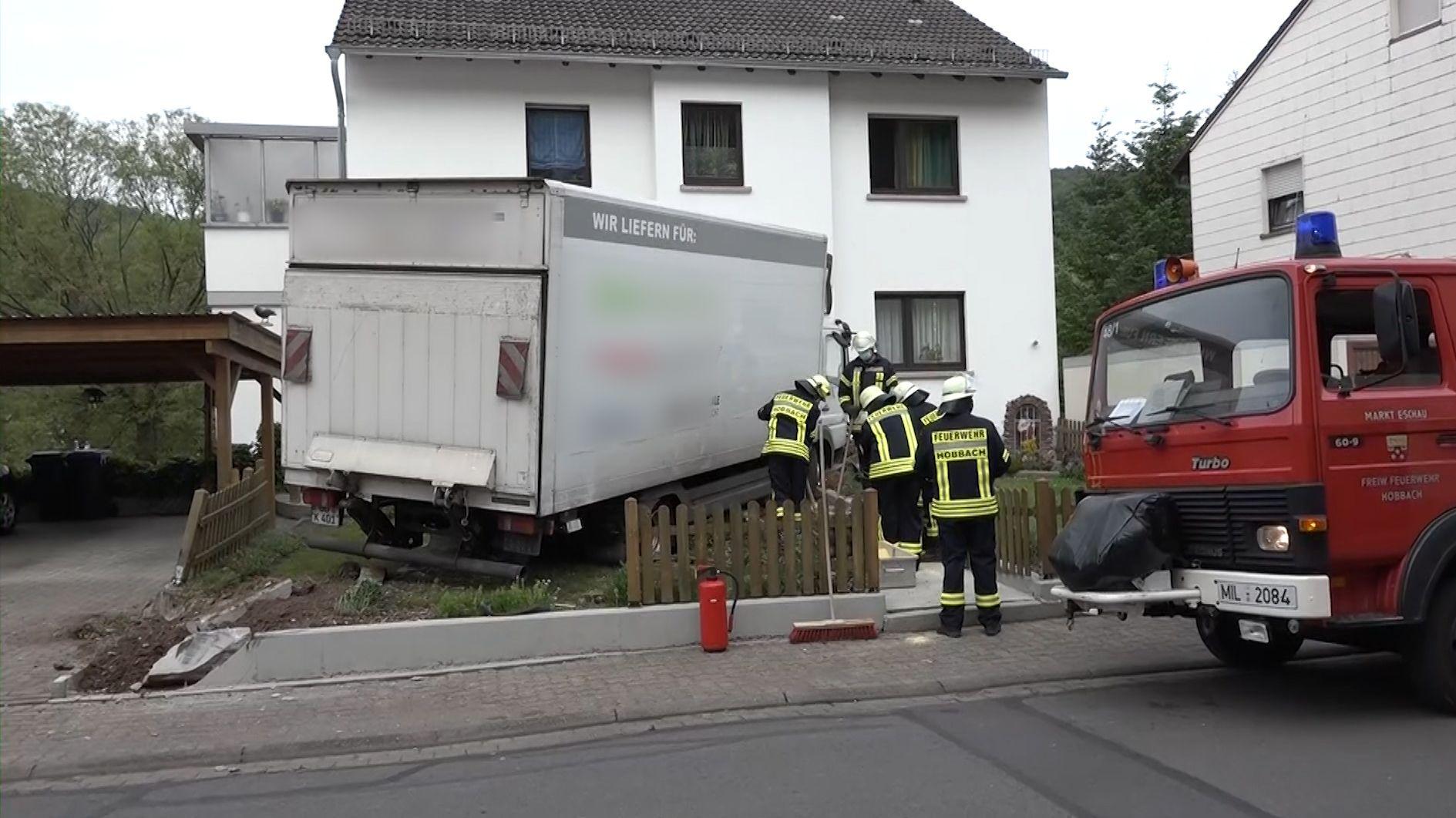 Lkw-Unfall in Hobbach