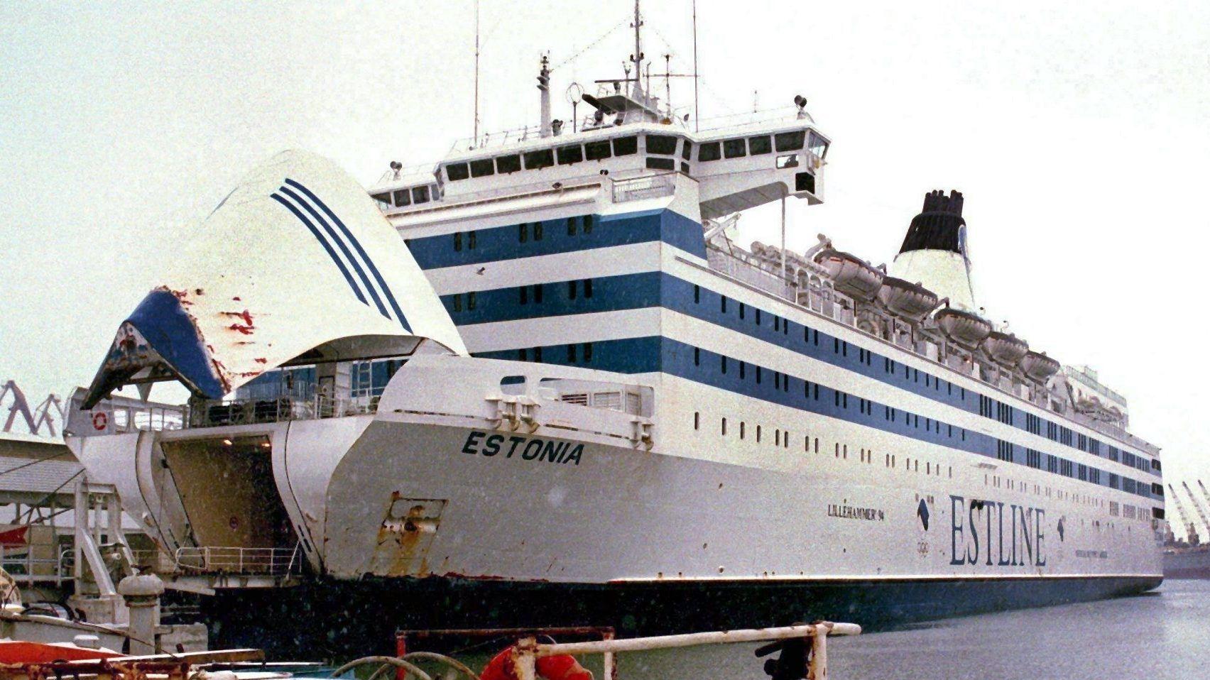 """Die estnische Ostseefähre """"Estonia"""" im Hafen von Tallinn (Archivbild, undatiert)"""