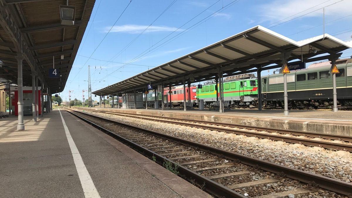 Der Bahnhof in Nördlingen