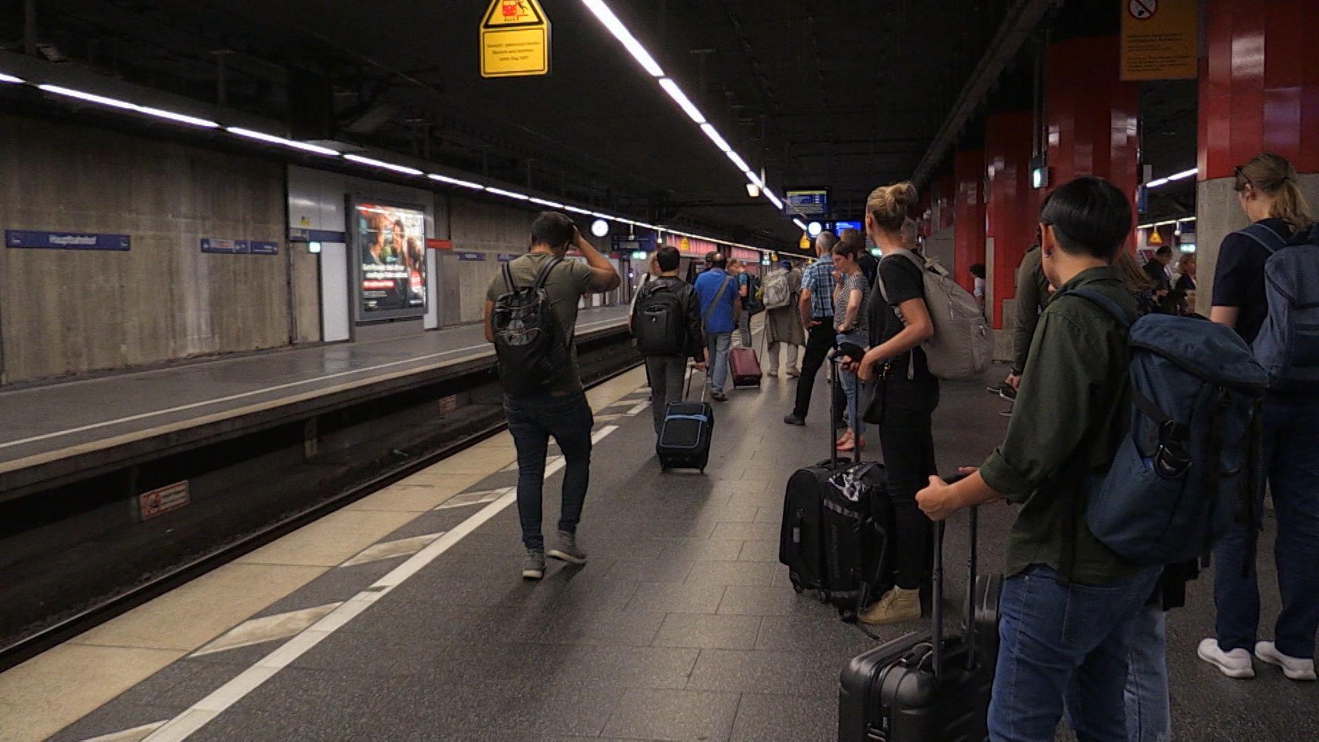 Gleisbereich in der Münchner S-Bahn.
