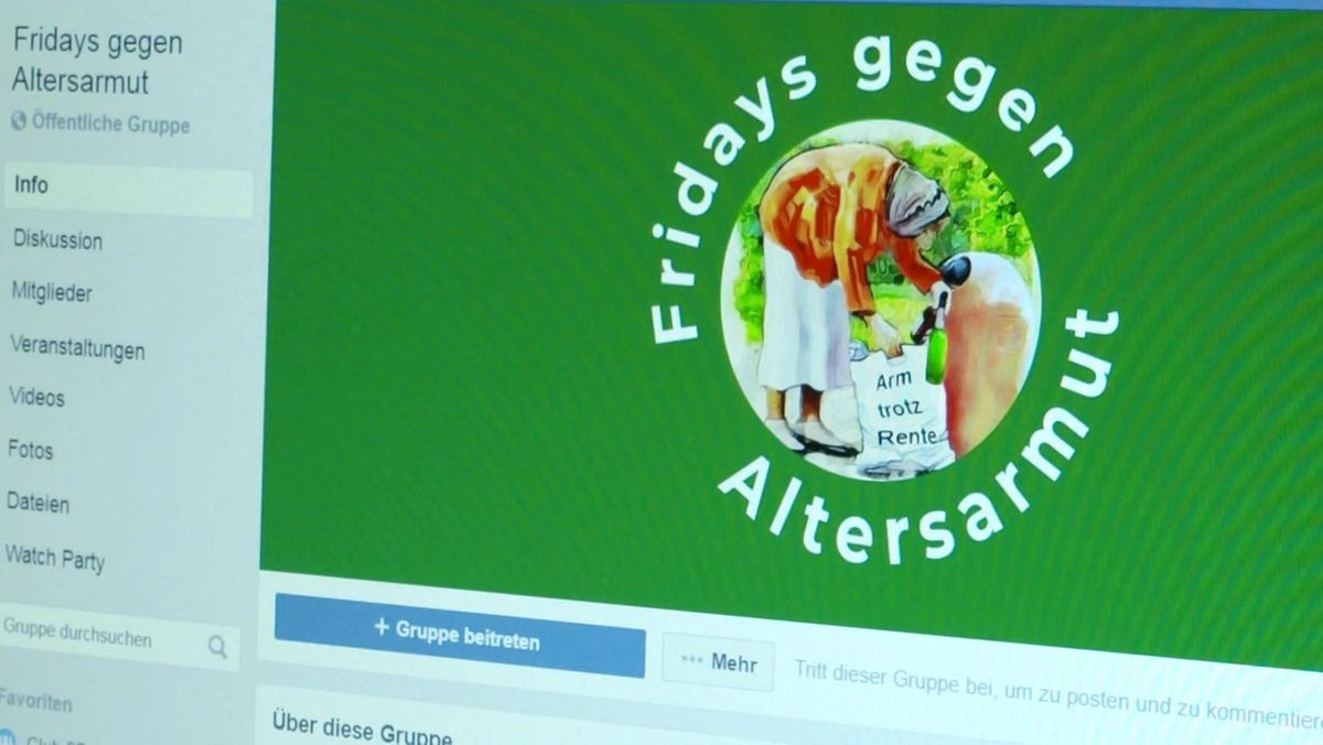 """Facebookseite von """"Fridays gegen Altersarmut"""""""