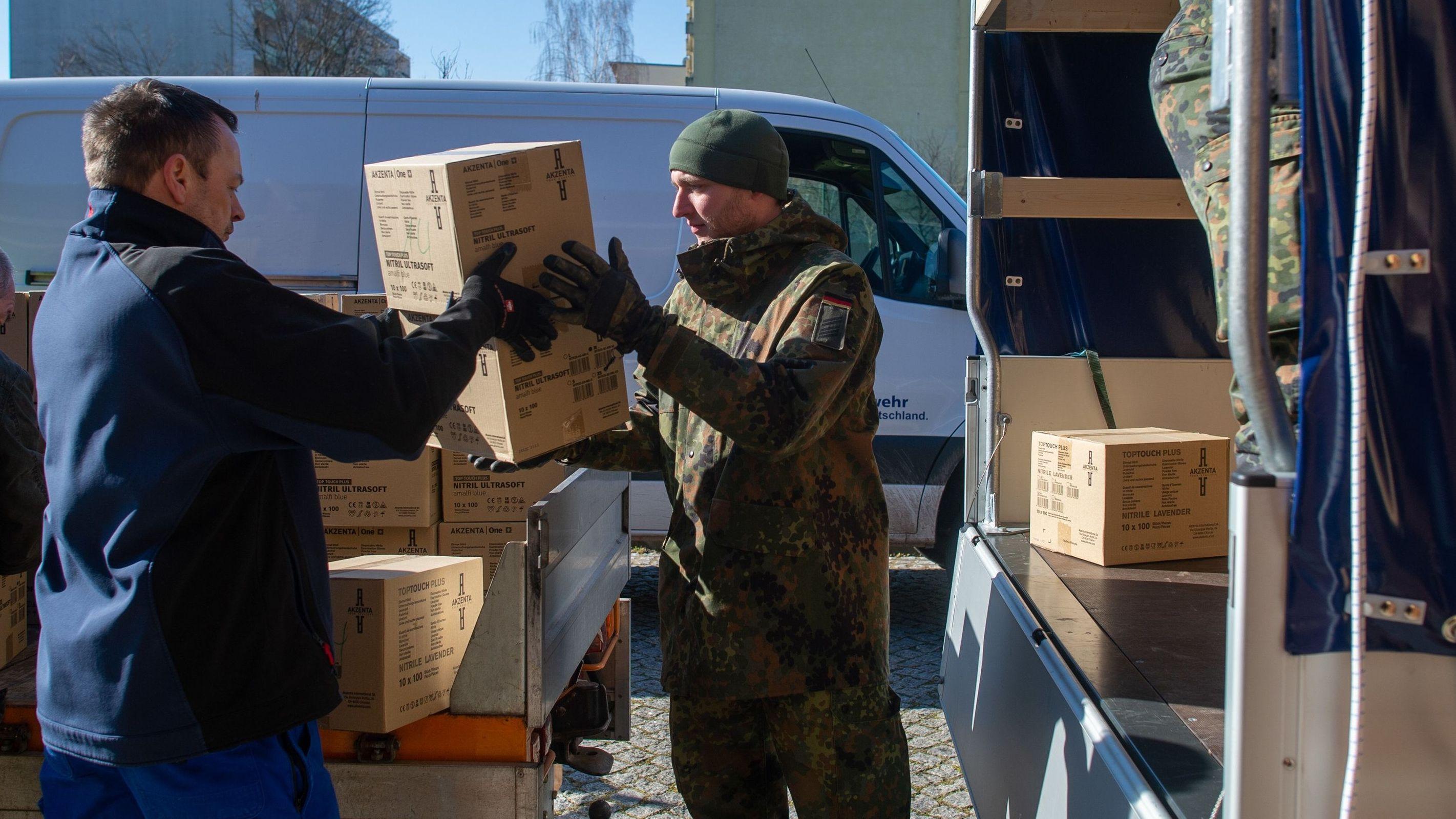 Soldaten im Einsatz gegen das Coronavirus