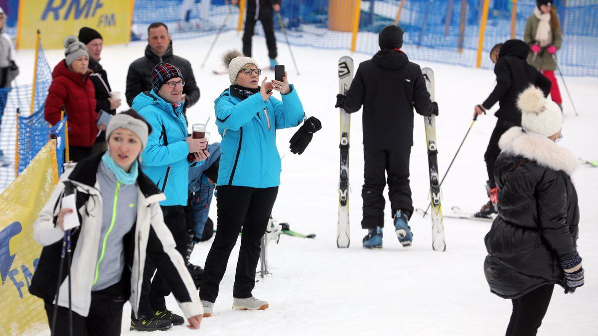 Skifahrer in Zakopane