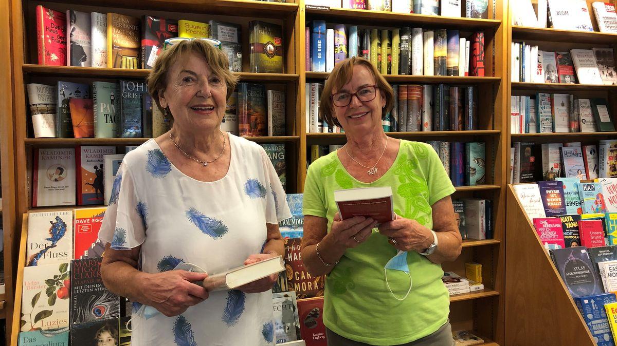 Ingrid Sauer und Ilse Arold von der Buchhandlung Frenkel in Nürnberg