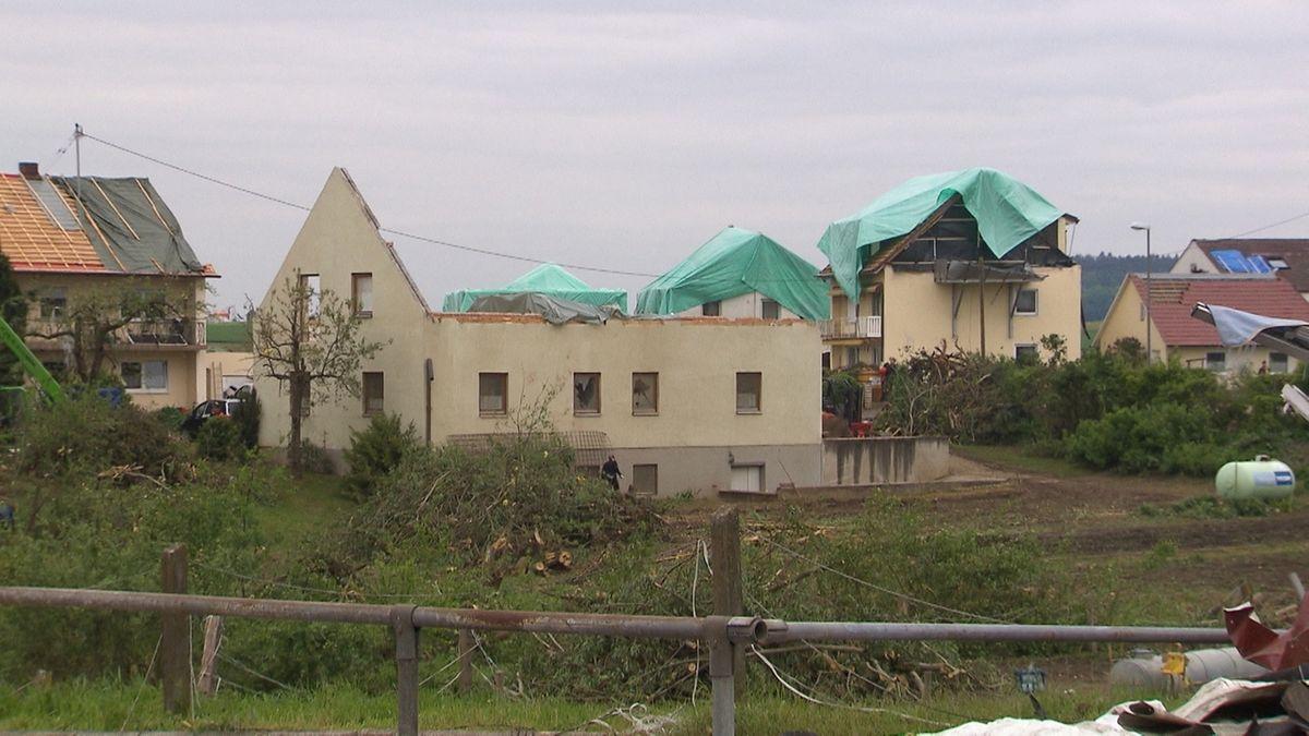Tornadoschäden in Affing