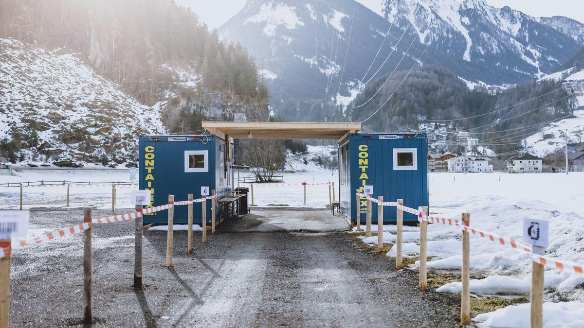 Corona-Teststation in Mayrhofen in Tirol