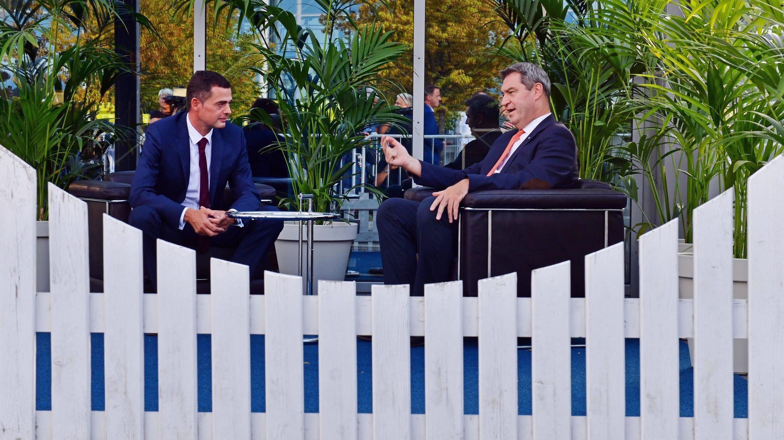 Lehnen Mietendeckel-Pläne aus Berlin ab: Markus Söder (CSU) und Thüringens CDU-Chef Mike Mohring.