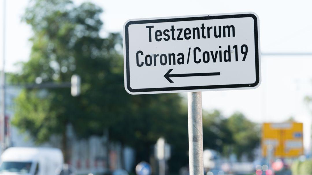 Hinweis zum Testzentrum in Augsburg