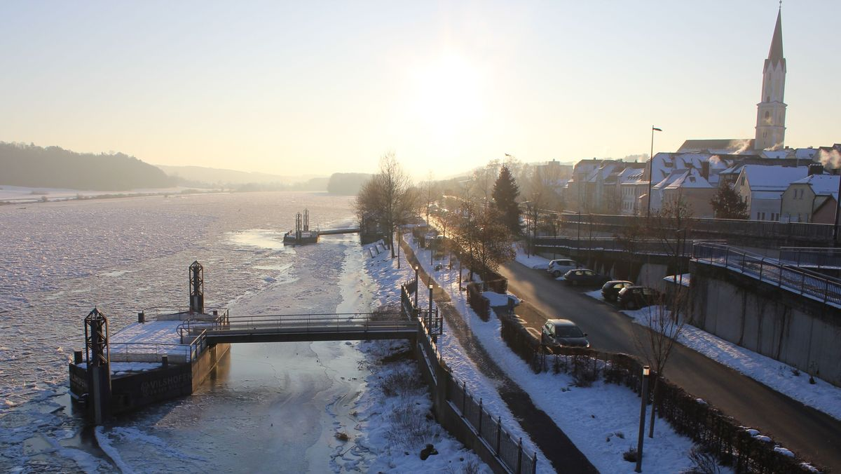 Vilshofen an der Donau im Winter