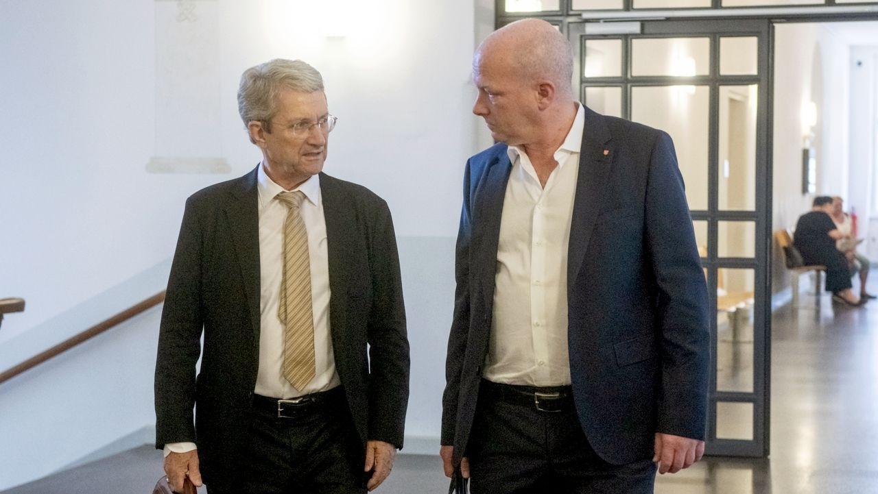 Immobilienunternehmer Volker Tretzel und Regensburgs suspendierter Oberbürgermeister Joachim Wolbergs (ehem. SPD)