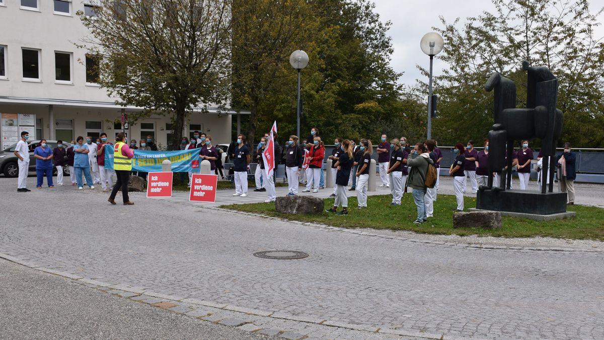 """""""Aktive Mittagspause"""" vor dem Klinikum Landshut"""