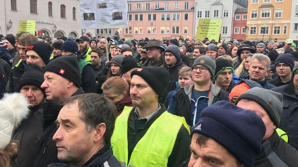 Bauernprotest in Augsburg