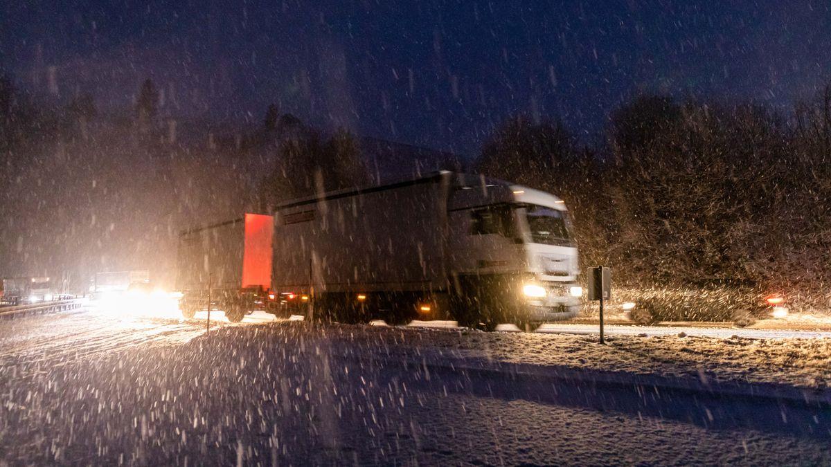 Schneefall am Morgen in Baden-Württemberg