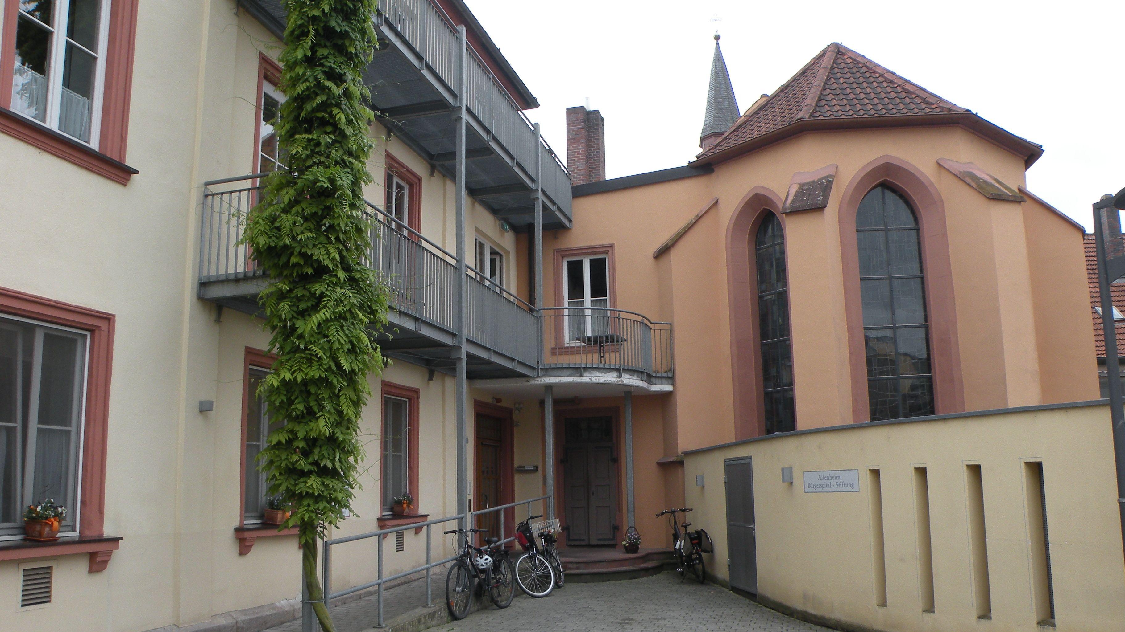 Das Bürgerspital in der Hammelburger Innenstadt