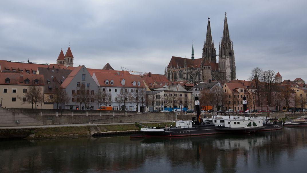 Donau und Dom in Regensburg