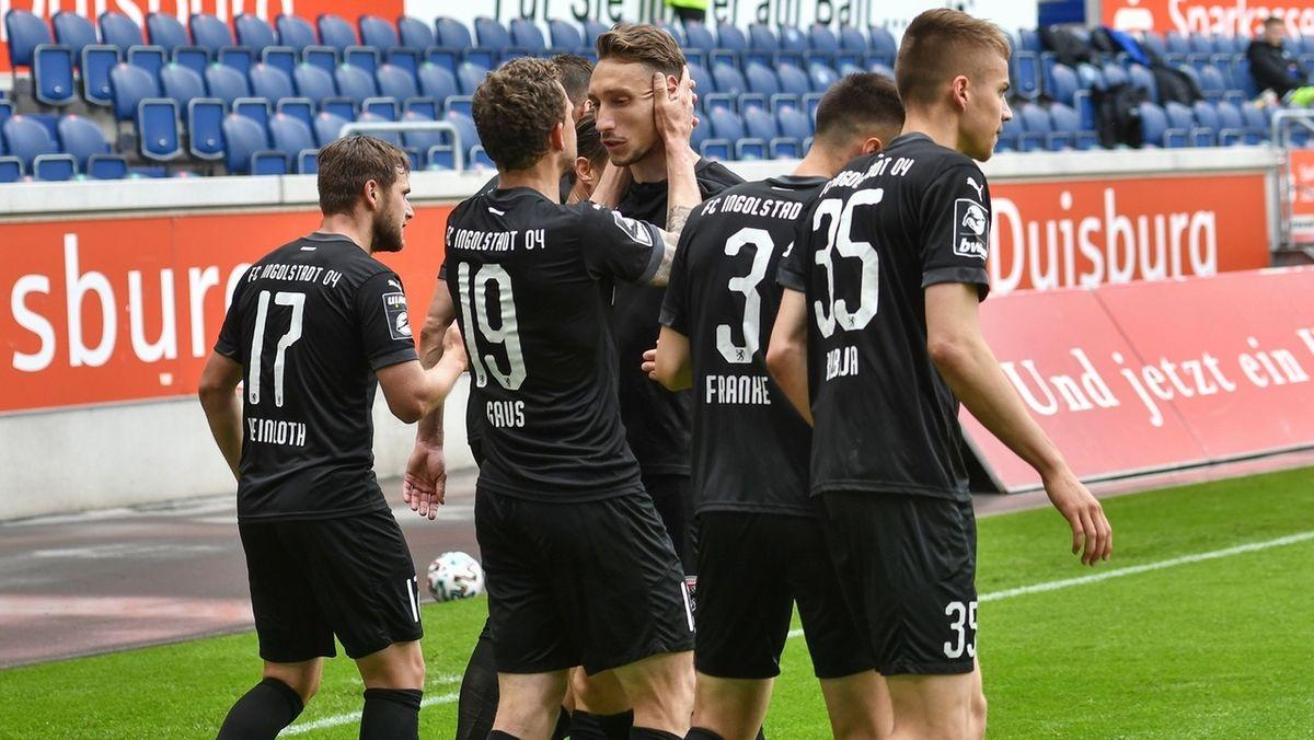 Torjubel beim FC Ingolstadt in Duisburg