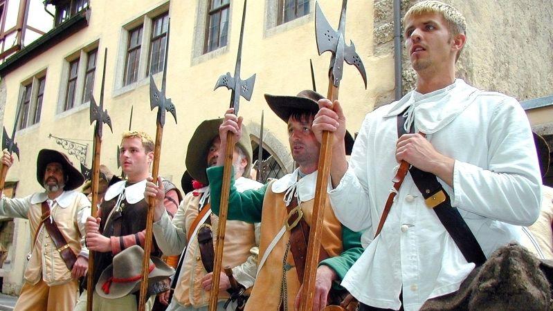 Soldaten-Darsteller in Rothenburg