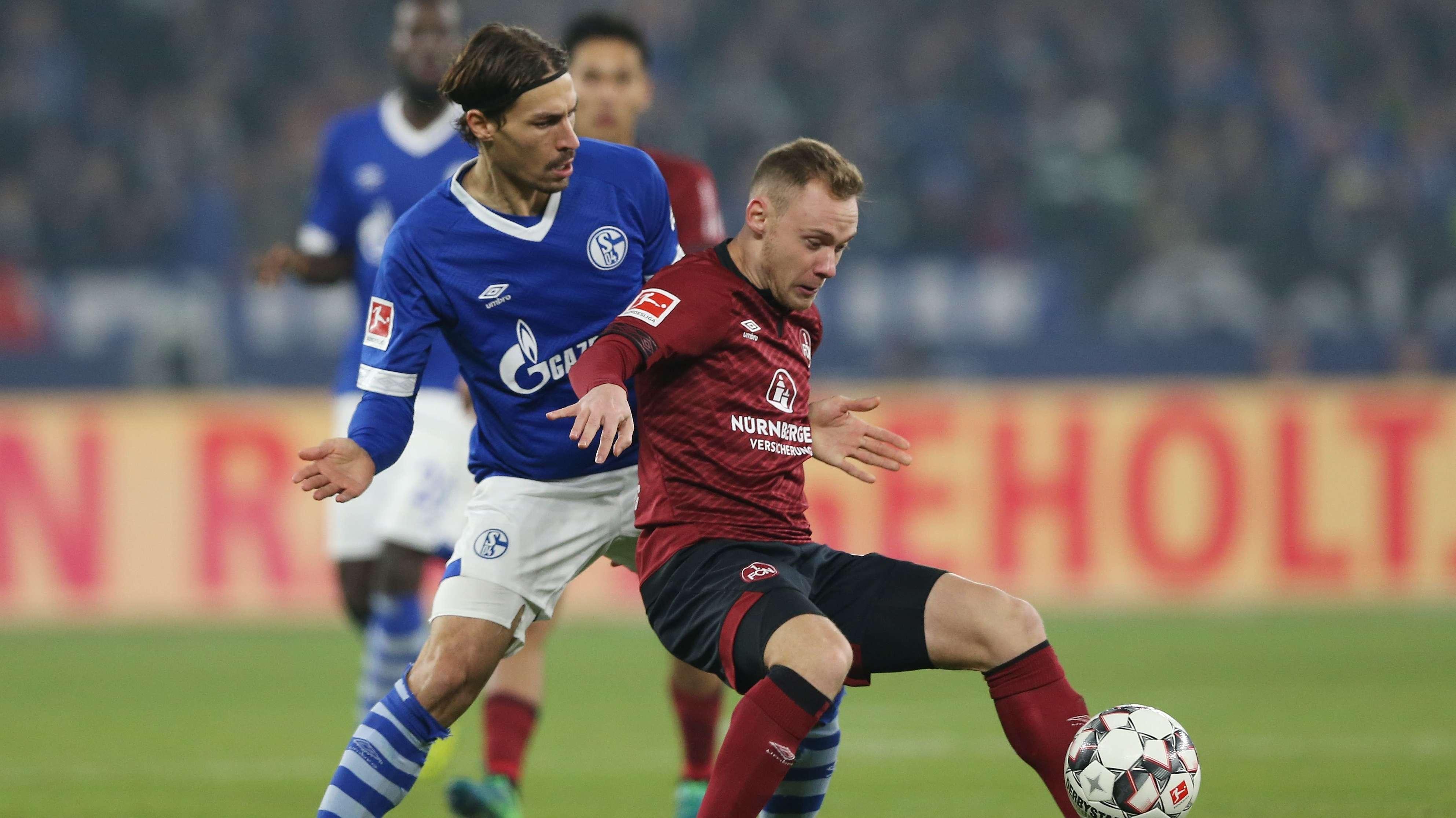 Spielszene FC Schalke 04 - 1. FC Nürnberg
