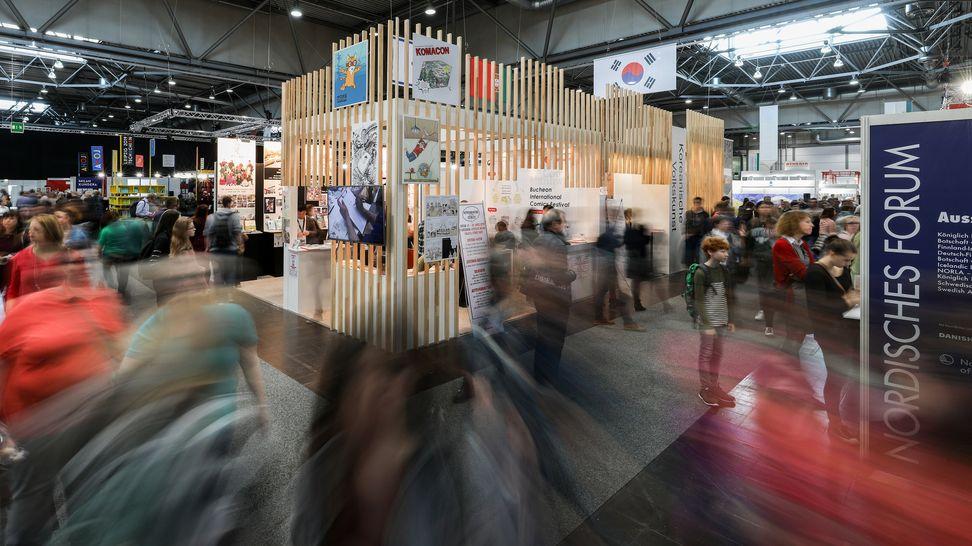Blick auf Publikum bei einer früheren Leipziger Buchmesse