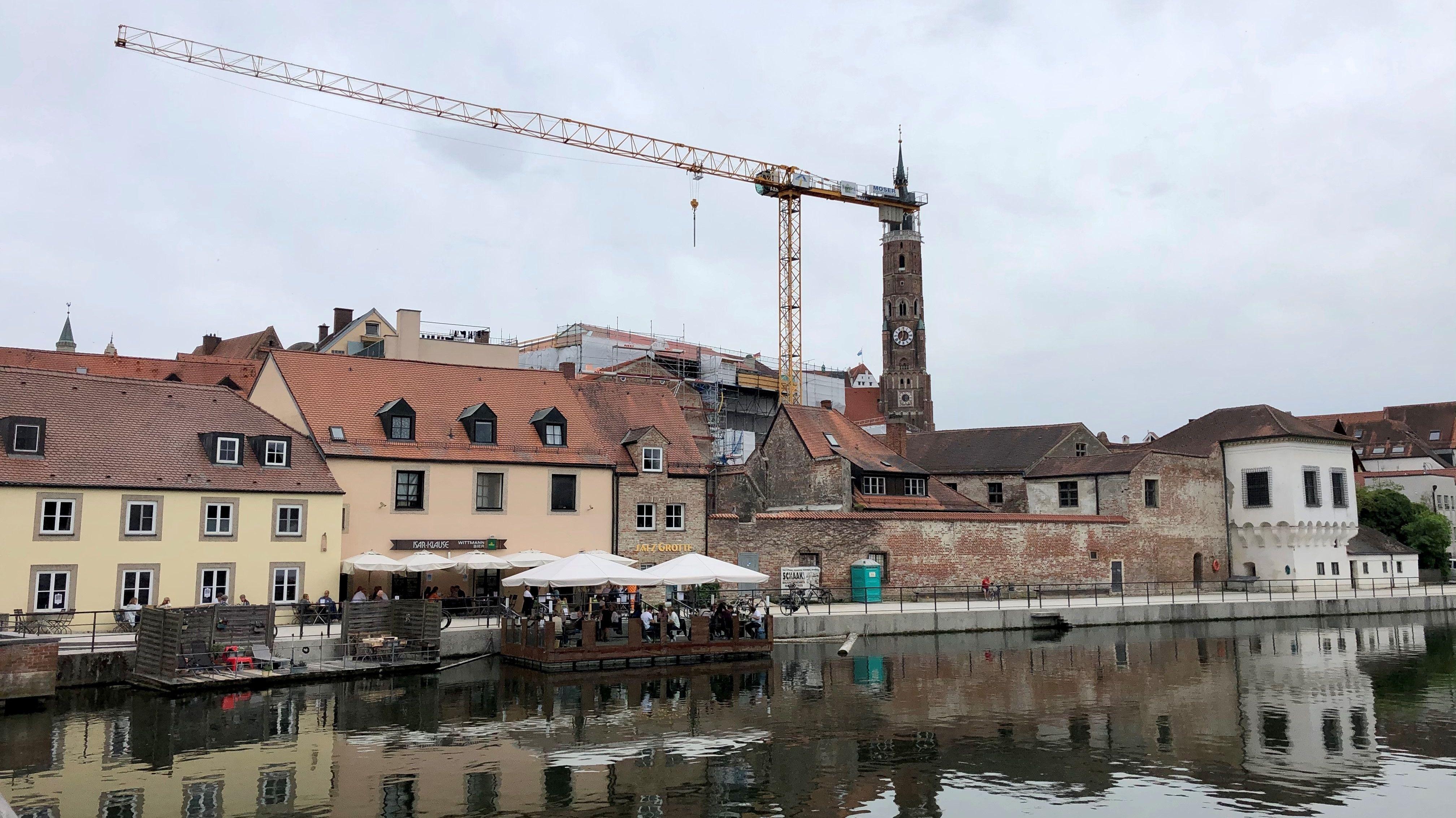 Die Isarpromenade in Landshut wird wegen der Sanierung der Stadtresidenz sechs Wochen tagsüber gesperrt
