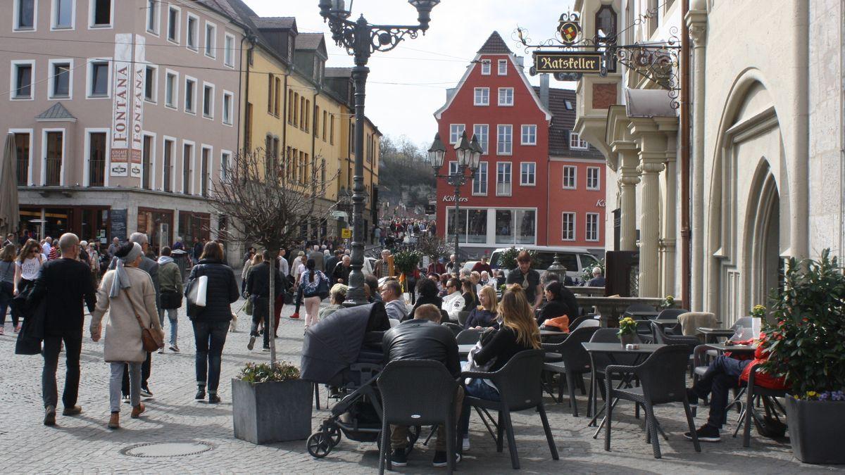 Betrieb in der Würzburger Innenstadt
