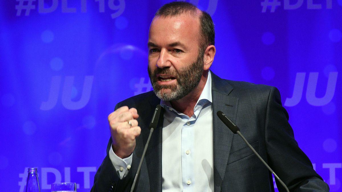 Manfred Weber, Fraktionsvorsitzender der EVP-Fraktion, spricht beim Deutschlandtag der Jungen Union.