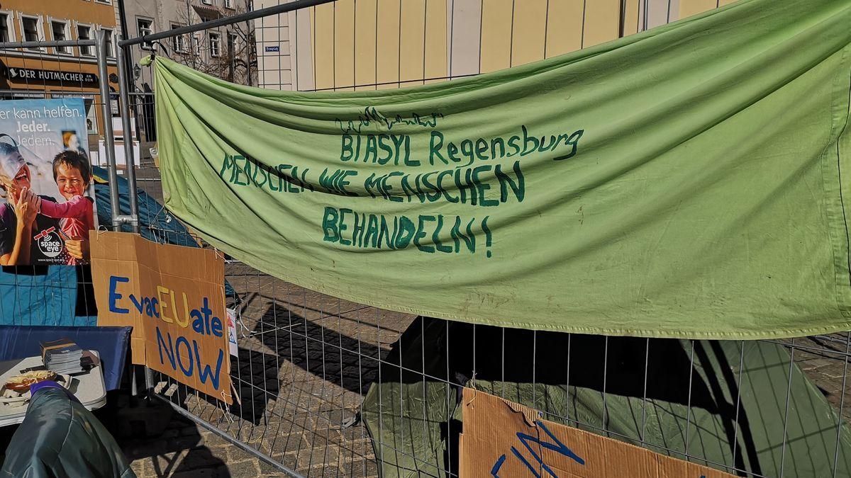 Protestcamp in Regensburg