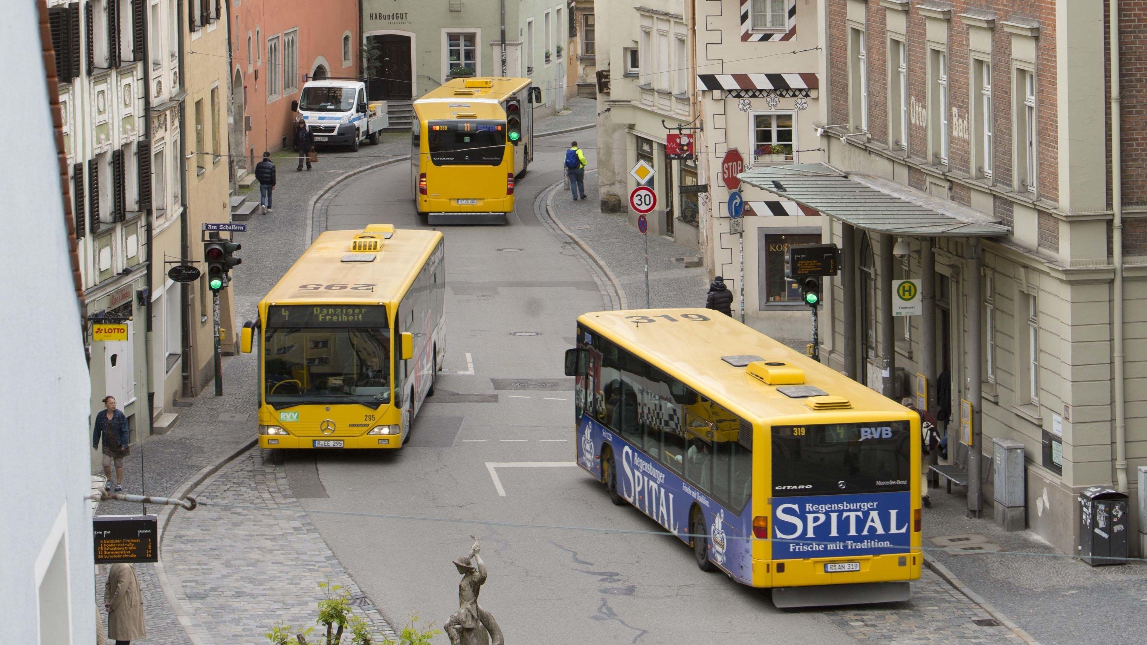 Bushaltestelle in Regensburg
