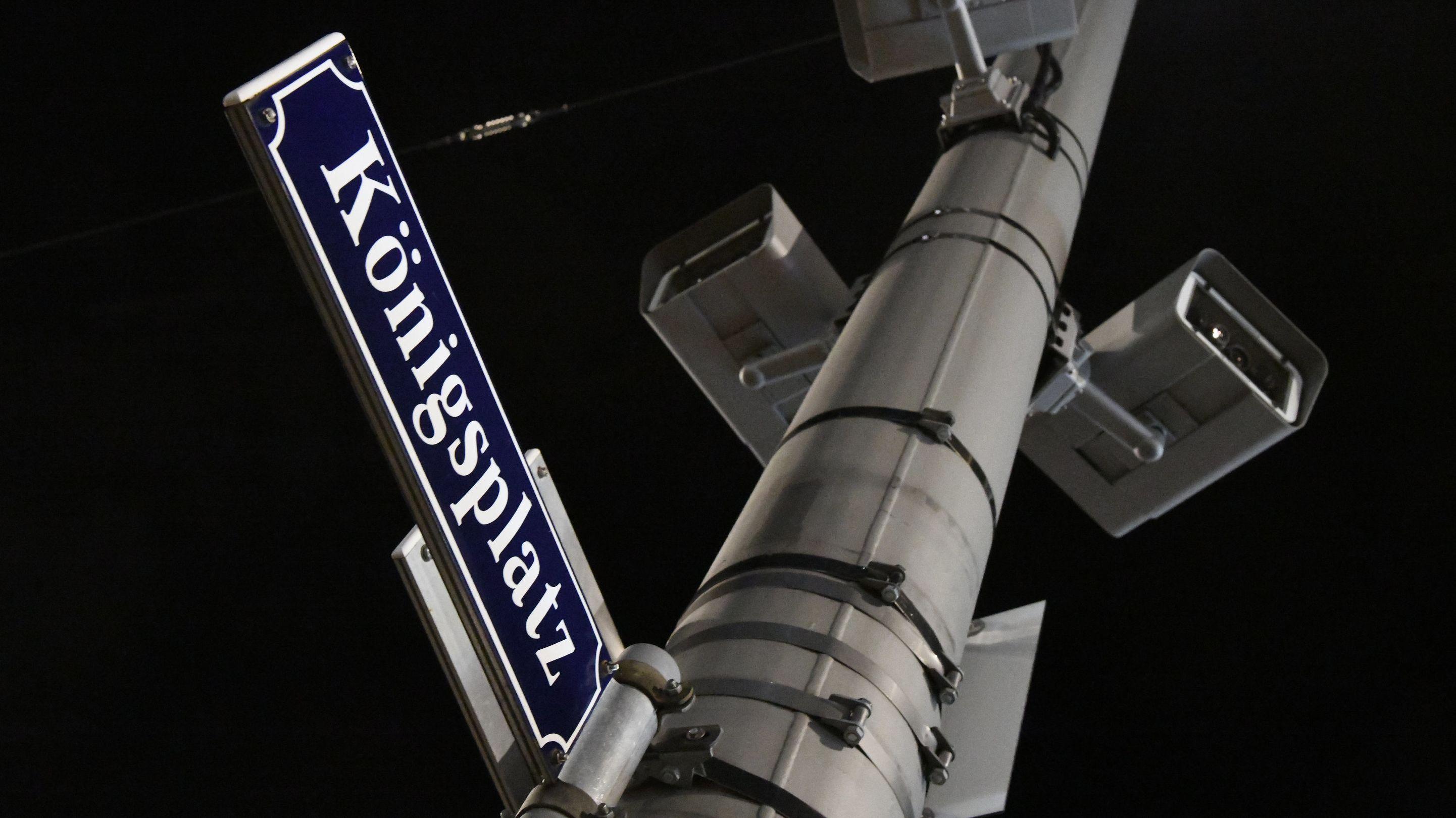 Der Augsburger Königsplatz, wo ein Feuerwehrmann nach einem Streit getötet wurde
