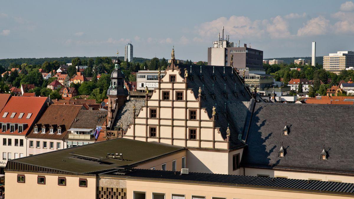 Blick auf das Schweinfurter Rathaus