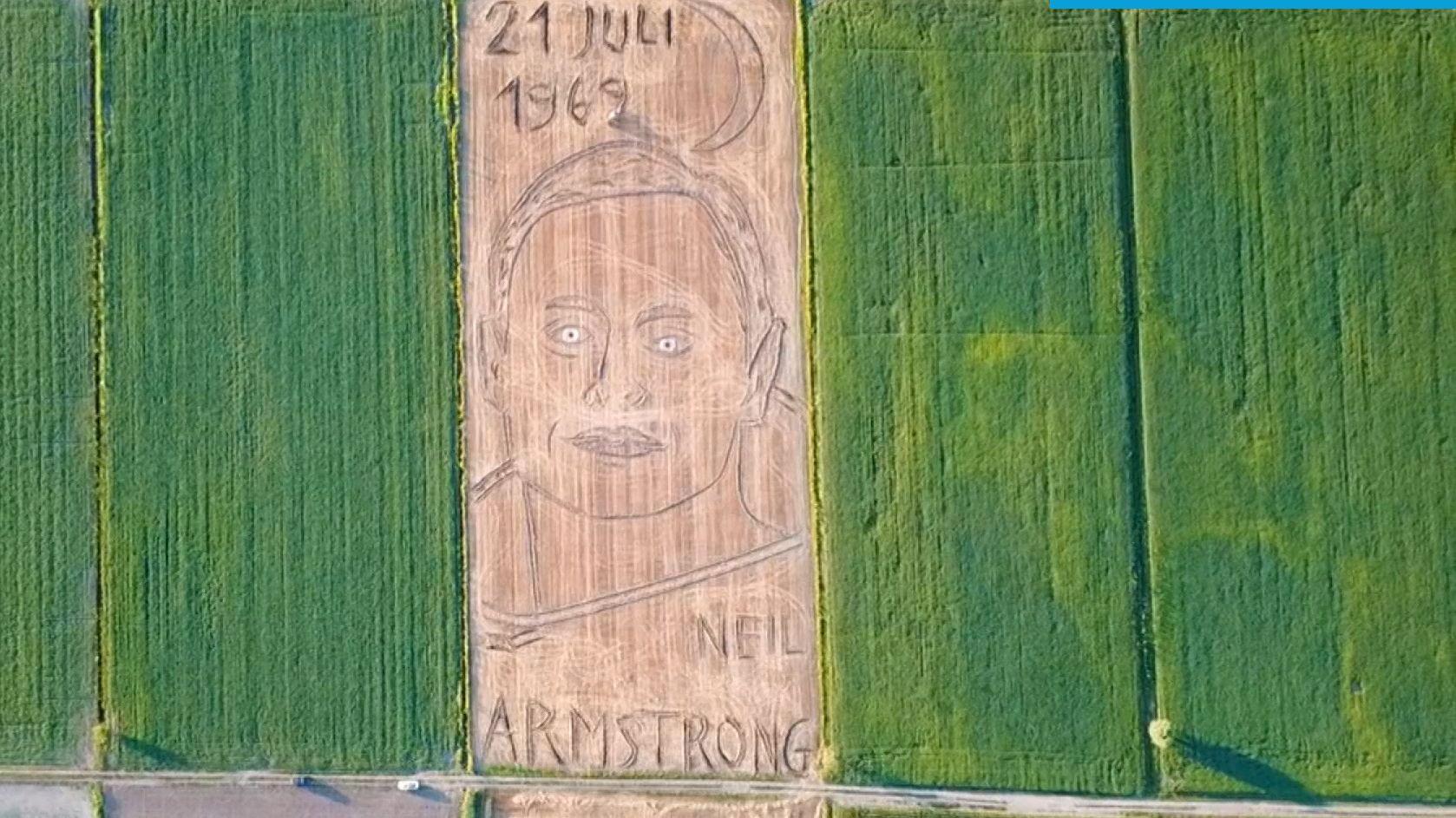 Armstrong-Portrait in italienischem Feld
