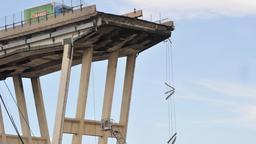 Reste der eingestürzten Brücke bei Genua | Bild:picture alliance / Portofino