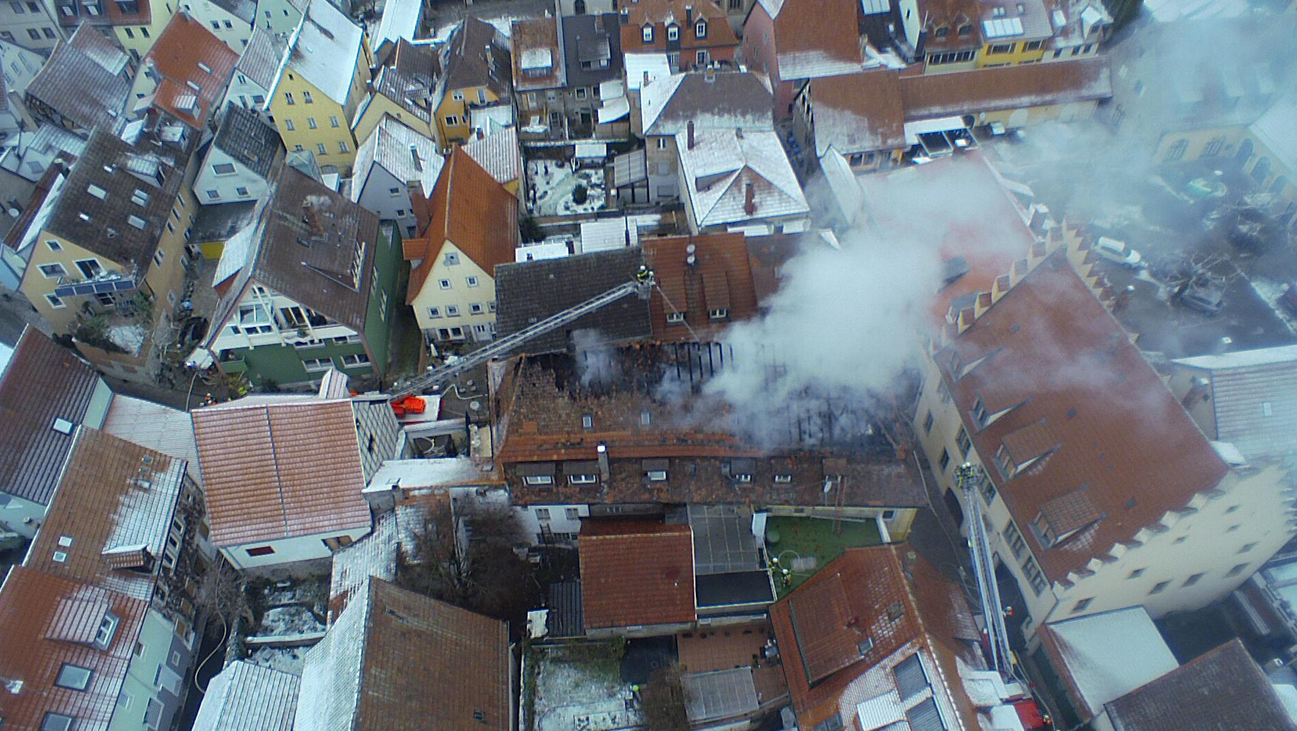 Dachstuhlbrand in Ochsenfurt