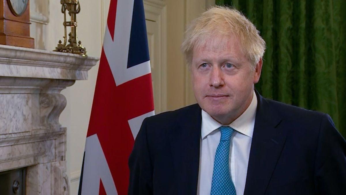 Das von der Downing Street zur Verfügung gestellte Foto zeigt wie Boris Johnson, Premierminister, eine Erklärung zu den Handelsgesprächen mit der EU abgibt.
