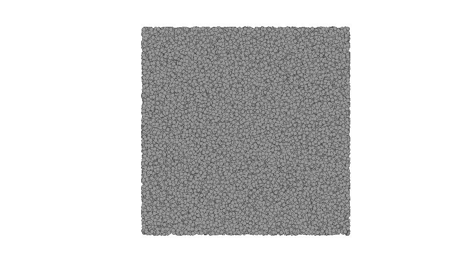 Darstellung der gleichgroßen Knoten in Gephi.